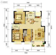 康平家园康平福邸3室2厅1卫102平方米户型图