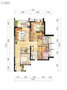 时代廊桥(增城)3室2厅1卫80平方米户型图