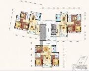 珀丽湾3室2厅2卫80--150平方米户型图