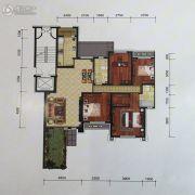 金地艺境3室2厅2卫170平方米户型图
