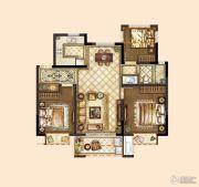 旭辉银城白马澜山3室2厅1卫89平方米户型图