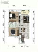 绿地越秀海�h2室2厅0卫73平方米户型图