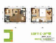 BOBO悠乐城0室0厅0卫64平方米户型图