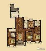 海峡城4室2厅3卫197平方米户型图
