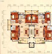 陶然家园3室2厅2卫146--161平方米户型图
