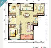 世茂・倾城3室2厅1卫0平方米户型图