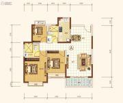 恒大海上帝景3室2厅2卫114平方米户型图