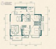 恒大世纪城3室2厅1卫75平方米户型图