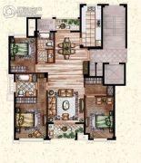 莲桥府3室2厅2卫156平方米户型图