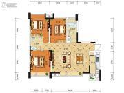 积家御景3室2厅2卫114平方米户型图