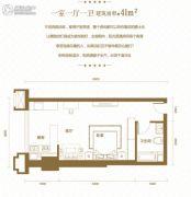 光谷one391室1厅1卫41平方米户型图