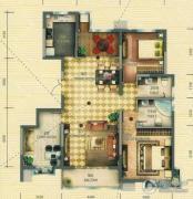 和平时光3室2厅2卫0平方米户型图
