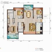 中城悦城3室2厅2卫116--118平方米户型图