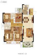 东润城4室2厅2卫143平方米户型图