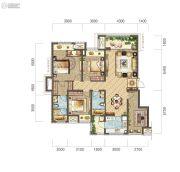 公园大道3室2厅2卫115平方米户型图