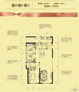 保利大家3室2厅2卫105平方米户型图