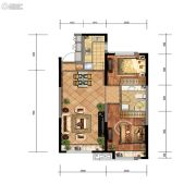 金地檀悦2室2厅1卫82平方米户型图