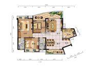时代御京新城3室2厅2卫129平方米户型图