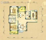 中信凯旋城3室2厅2卫124平方米户型图