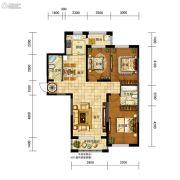 五矿・弘园3室2厅2卫121平方米户型图