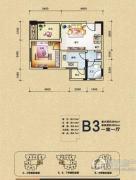 渝开发上城时代1室1厅1卫42平方米户型图