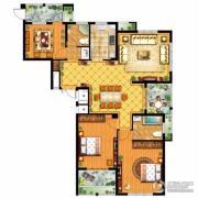信达银郡3室2厅2卫142平方米户型图
