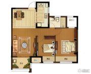 大华锦绣华城2室2厅1卫83平方米户型图