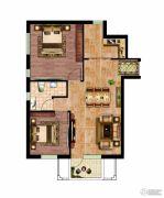 晶彩中心2室1厅1卫84平方米户型图