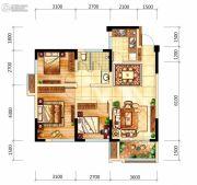 中航城3室2厅1卫78平方米户型图