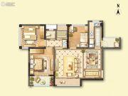 蓝光COCO蜜园3室2厅1卫78平方米户型图