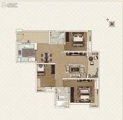 新世界凯粤湾3室2厅2卫106平方米户型图