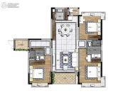 大宏锦绣3室2厅2卫136平方米户型图