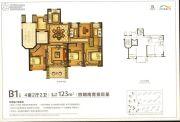 新湖广场4室2厅2卫123平方米户型图