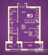 汇金・世界城1室1厅1卫57平方米户型图