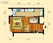 御园1室1厅1卫40平方米户型图
