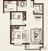 中山凯旋门2室2厅1卫92平方米户型图