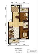 新加坡城2室2厅1卫103平方米户型图