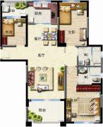 无锡碧桂园3室2厅2卫127平方米户型图