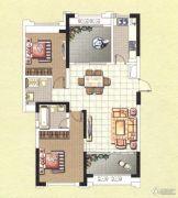 香榭一品2室2厅2卫108平方米户型图