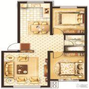 鑫华国际新城2室1厅1卫0平方米户型图