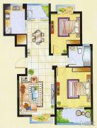 明瑞花园2室2厅1卫89平方米户型图