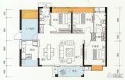 万科金色家园4室2厅2卫120平方米户型图