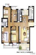 信义嘉庭4室1厅2卫0平方米户型图