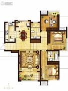 吴中豪景华庭3室2厅2卫139平方米户型图