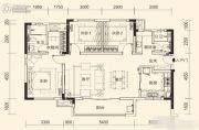 万科里梅溪郡3室2厅2卫122平方米户型图