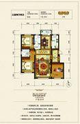 银河太阳城四期3室2厅2卫132平方米户型图