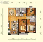 鲁商・金悦城3室2厅2卫0平方米户型图