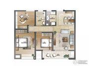 云鼎家园3室2厅1卫105平方米户型图