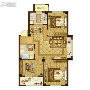 澳海澜郡3室2厅1卫83平方米户型图