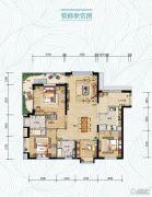 万科・红树东岸3室2厅2卫0平方米户型图